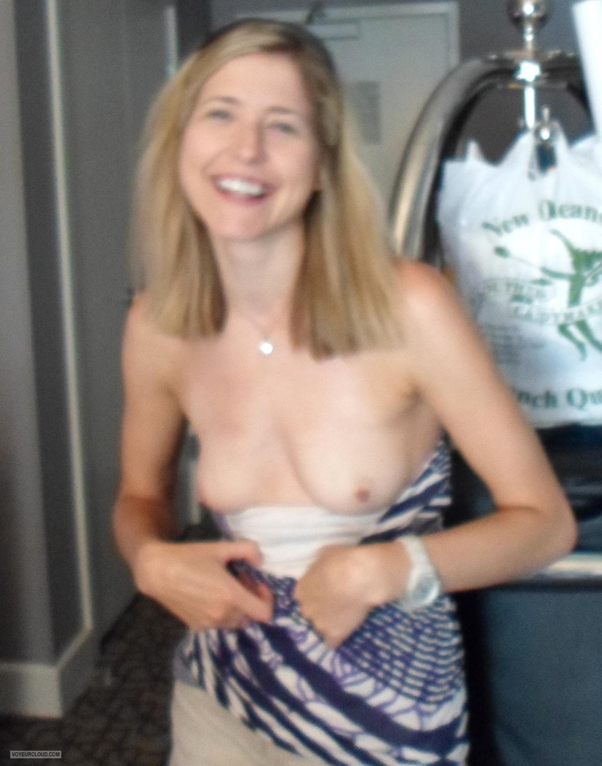 Tit Flash: My Small Tits - Topless C from United States